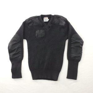 Vtg US Army Commando Jack Young Wool Knit Sweater